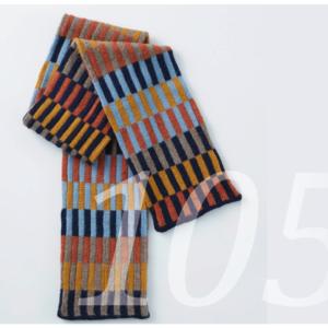 farbiger Schal mit geometrischen Muster aus Alpaka