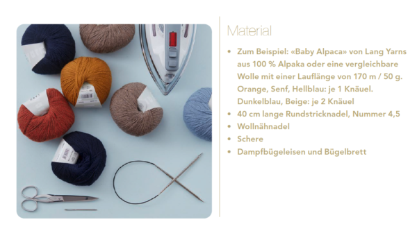Materialien Alpaka Schal