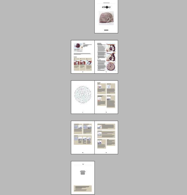 Anleitung für eine gehaekelte Muetze in zwei Farben Knit Kit