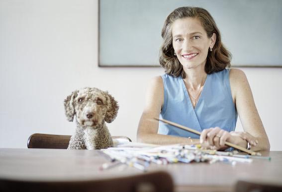 Anne-Catherine Lüke und Hund Marfa