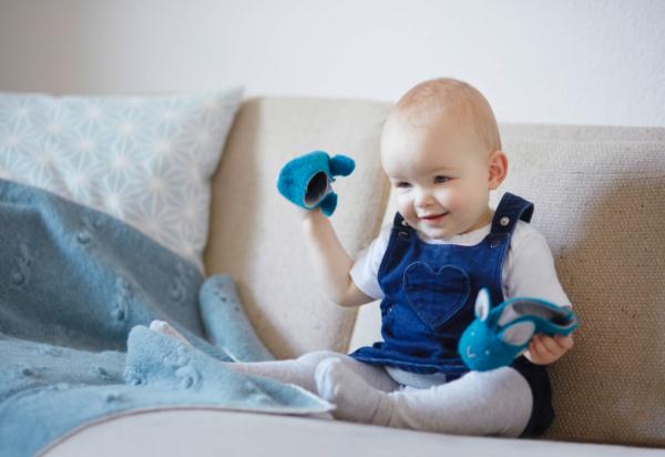 Babydecke für Maedchen und Buben stricken