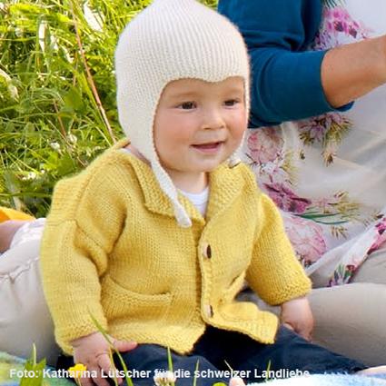 Babyjacke Strickmuster aus der schweizer Landliebe