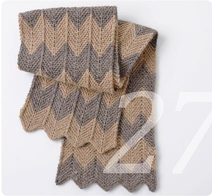 Zickzack Muster für einen Schal stricken
