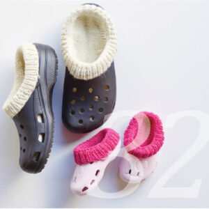 Strickanleitung für Crocs Socken in verschiedenen Grössen