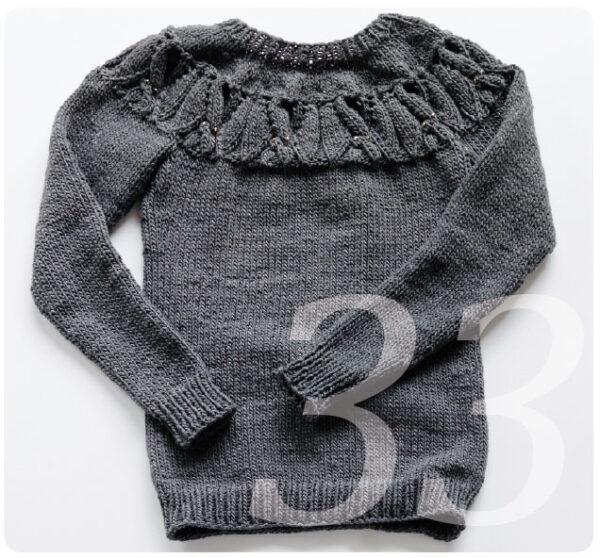 Strickanleitung für einen Pullover mit Zopfmuster Fledermäusen