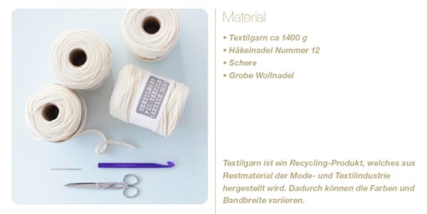 Materialien für Körbe