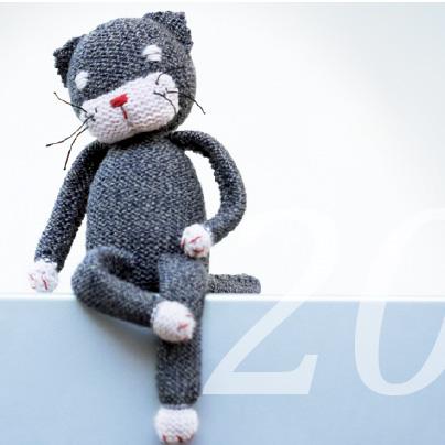 Strickanleitung für einen Kater von Knit Kit