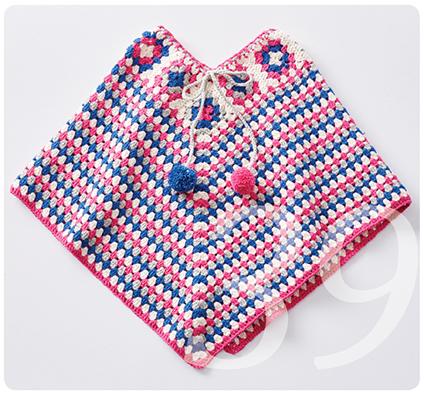 Häkelanleitung Muster für ein Poncho für Mädchen