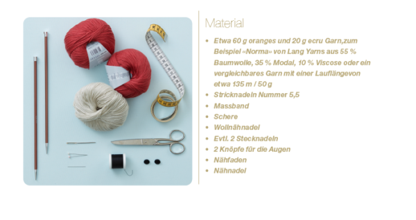 Materialien für einen Fuchsschal