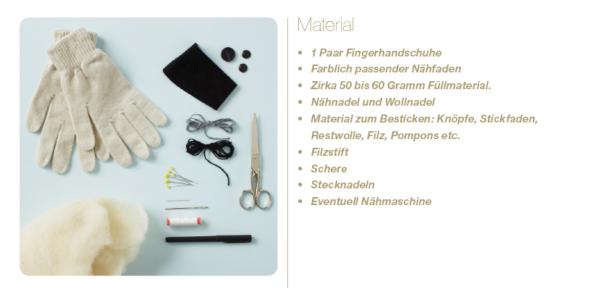 Materialien für Sockenhunde