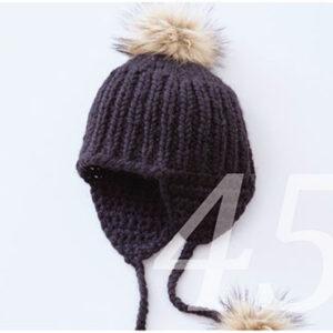 Mütze mit Ohrenwärmer und Pommel Strickanleitung