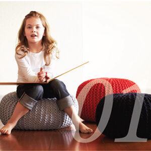 Pouf, Sitzkissen Strickanleitung zum selber stricken
