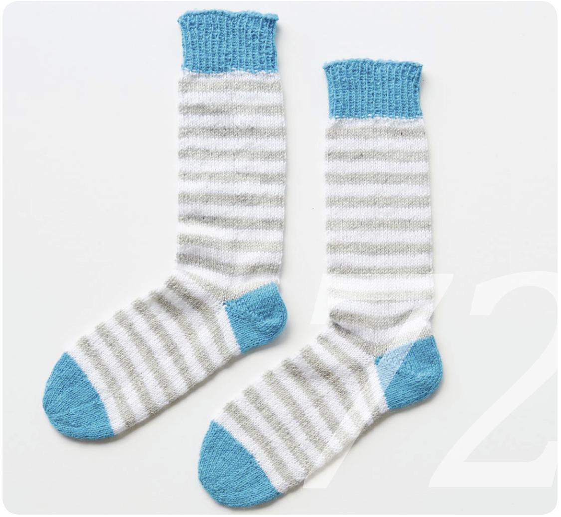 Strickanleitung Socken von den Zehen aus gestrickt