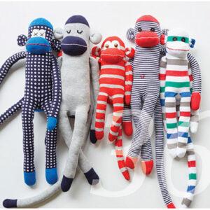 Nähanleitung für genähte Äffchen aus Socken