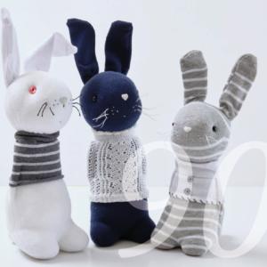 Nähanleitung für Osterhasen aus Socken