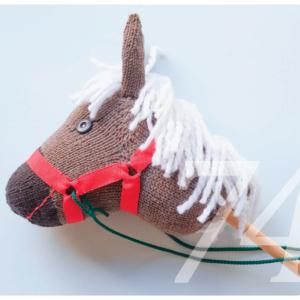 Strickanleitung für ein Steckenpferd aus einer Socke