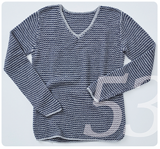 Strickanleitung für ein Herrenpullover aus Baumwolle mit Streifen