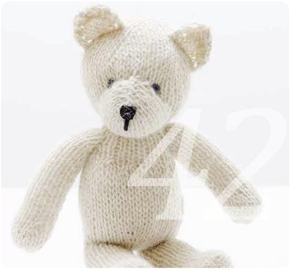 Strickmuster für einen klassischen Teddybär